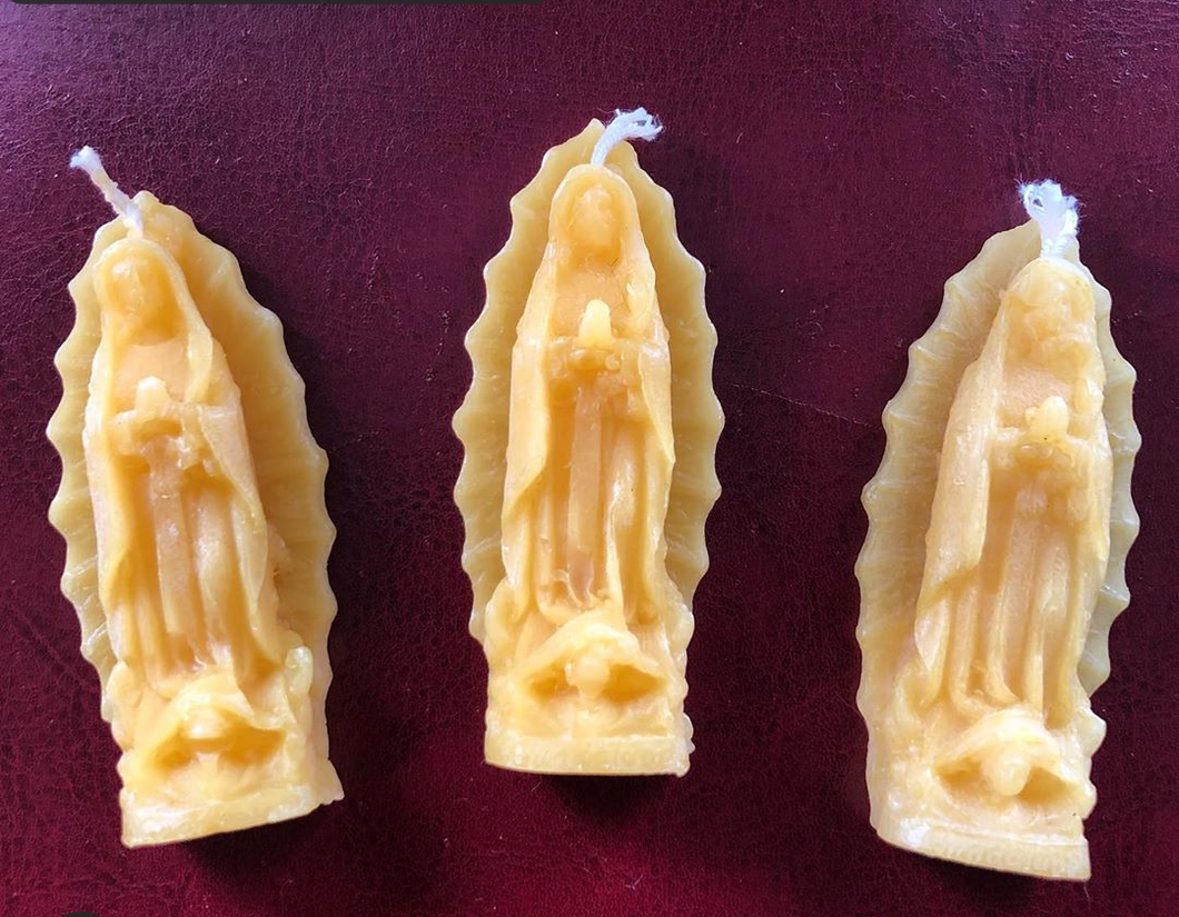 Virgin de Guadalupe Beeswax Candles (Honor, Nurturing, Self Love)
