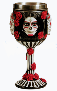 Sugar Skull Chalice (Mama Brigitte, Ancestors, Ghede, Day of the Dead)