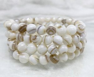 Mother of Pearl Gemstone Bracelet (Harmony, Balance, Intuition, Calms Emotions)