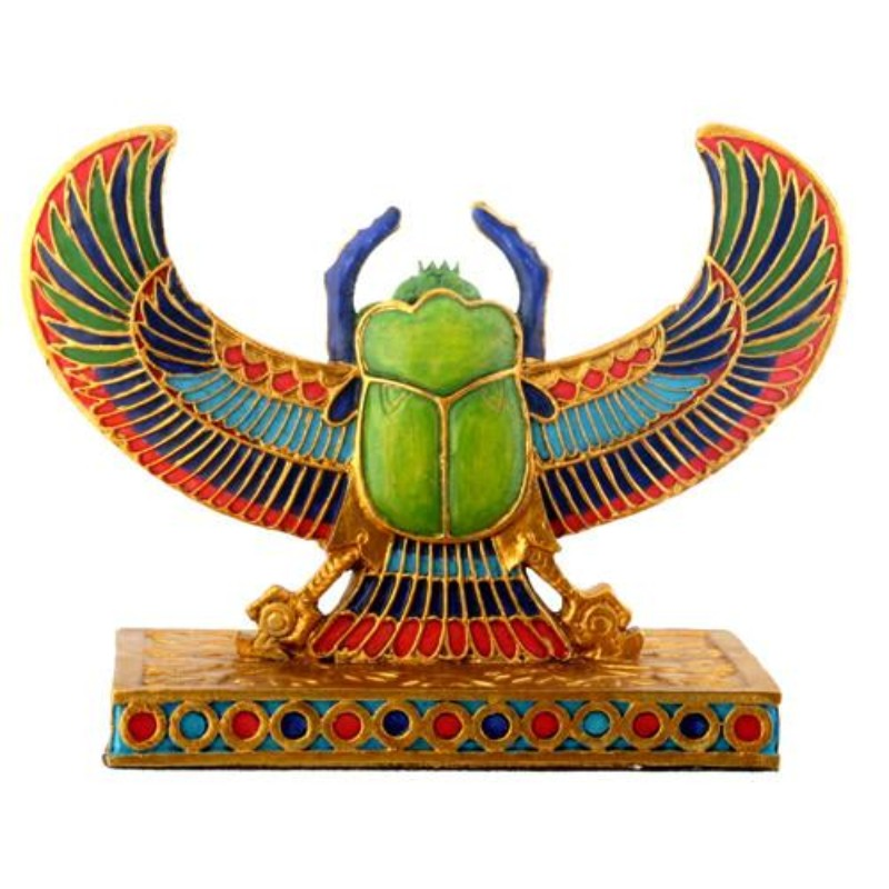Winged Scarab (Clairvoyance, Constancy, Material Realm, Renewal, Safety, Sensitivity, Spirit Communing, Stability, Trust, Vision)