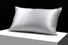 Load image into Gallery viewer, Pair of silk pillowcases 100% Mulberry Silk standard size.