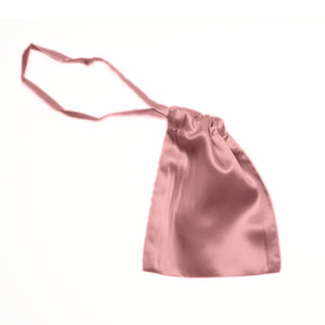 Pink mulberry silk eye mask