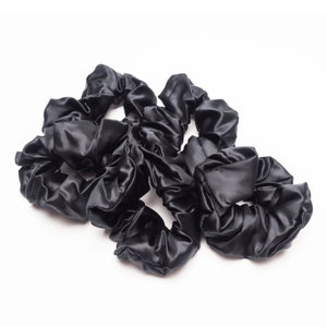 Silk scrunchie black thick