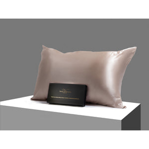 Silk pillowcase 100% Mulberry Silk 22 momme champagne standard size
