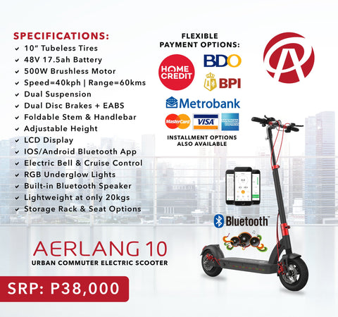 aerlang 10 electric scooter ph