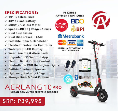 aerlang 10 pro electric scooter