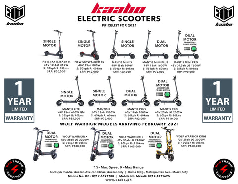 kaabo electric scooter price