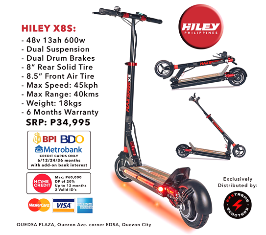 Hiley X8S - Ekstreme Electric Scooters PH