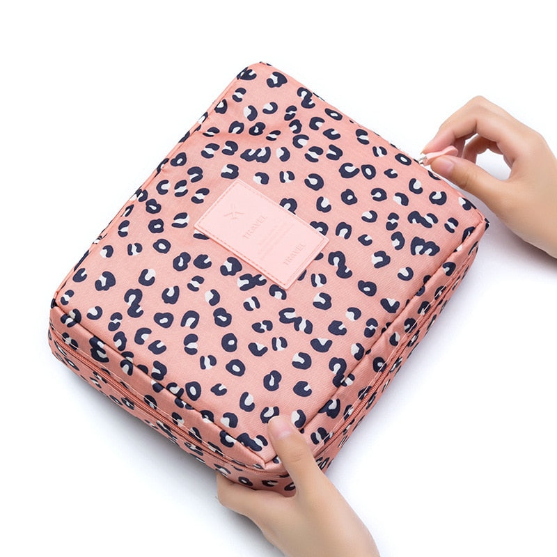 New Travel Men Women Cosmetics Toiletries Storage Case Pouch Packing Organizer Portable Wash Cosmetic Bag Travel Accessories