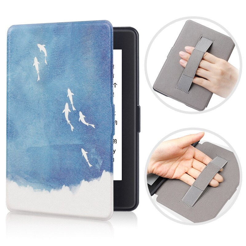 Wrist Rest Smart Case for Amazon Kindle Paperwhite 2 3 Magnetic flip Cover for Paperwhite 6' Tablet Case with Auto Wake up/sleep