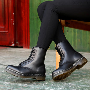 Yellow Sewing Doc Women Boots Platform Martins Shoes Ladies Leather Boot Motorcycle Woman Shoes Fashion Designers Women Boots