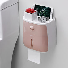 Load image into Gallery viewer, Waterproof Toilet Paper Holder For Toilet Paper Towel Holder Bathroom Dispenser Storage Box Toilet Roll Holder Wall Mounted