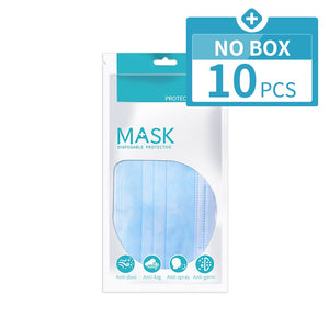 Mouth Masks Anti Dust Face Mask Disposable Mask Filter 3-laye Anti-Dust Meltblown Cloth Masks Earloops Masks DMMASK