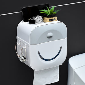 Waterproof Paper Towel Holder Toilet Paper Holder Wall Mounted Wc Roll Paper Stand Case Tube Storage Box for Toilet Paper