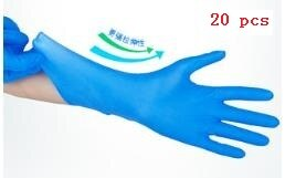 Black Blue Disposable Gloves Latex Dishwashing/Kitchen/Medical /Work/Rubber/Garden Gloves
