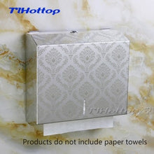 Load image into Gallery viewer, 286*100*265mm Stainless Steel Manual Holder Dispenser Paper Towel Rack Mirror Cup Toilet Box FLOWER Gold