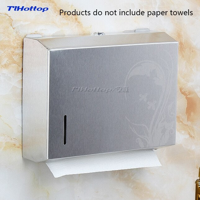 262*205*83mm Stainless Steel Manual Holder Dispenser Paper Towel Rack Butterfly Crown Gold Blue YH8013