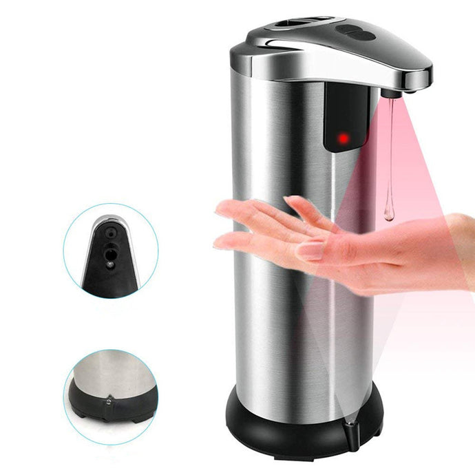 Automatic Soap Dispenser Sensor Automatic Touch-Free Liquid Dispenser ABS Electroplated Sanitize Dispenser for Kitchen Bathroom