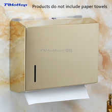 Load image into Gallery viewer, 262*205*83mm Stainless Steel Manual Holder Dispenser Paper Towel Rack Butterfly Crown Gold Blue YH8013