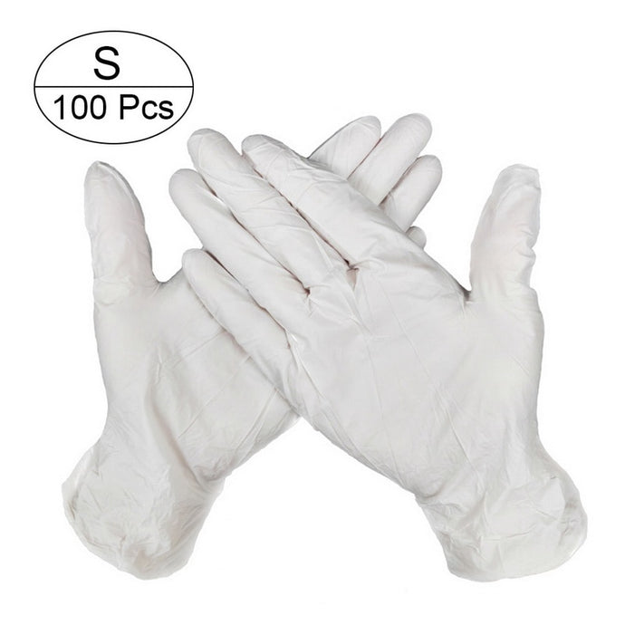 100 PCS 3 Color Disposable Gloves Latex Dishwashing/Kitchen/Medical /Work/Rubber/Garden Gloves Universal For Left and Right Hand