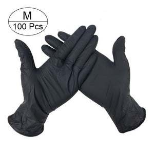 100 Pairs Disposable Gloves Latex Dishwashing/Kitchen/Medical /Work/Rubber/Garden Gloves Universal For Left and Right Hand 3 Color
