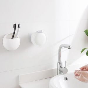 Small Liquid Soap Dispenser Wall Mounted Free Punching Plastic Sanitizer Shampoo Dispenser for Bathroom Kitchen Hotel 350Ml