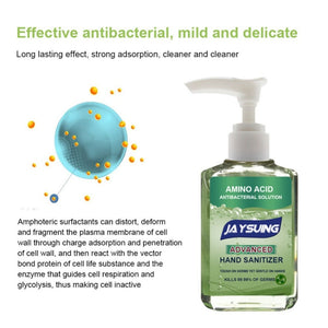 Antibacterial Press Head Amino Acid Hand Sanitizer Gel Effective Disinfection Hand Cleaner Disposable Rinse Free Gel