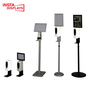 Chinese Newest Mobile& Contact-free Hand Sanitizer Hospital Shopping mall Advertising Stand