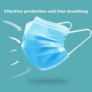Disposable Masks 10/50PC Dustproof Face Mouth Masks Non Woven Anti PM2.5 Anti Influenza Breathing Safety Masks Face Care Masks