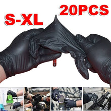 Load image into Gallery viewer, 20PC S/M/L/XL Disposable Soft Black Latex Tattoo Gloves Dental Medical Nitrile Latex Sterile Permanent Tattoo Gloves Accessories