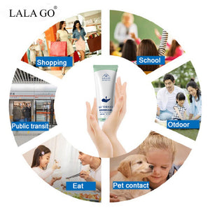 Portable Hand Sanitizer Gel 75% Alcohol Disposable Waterless Anti Bacteria Virus Disinfectant Hand Wash Soap Safe Gel Quick Dry