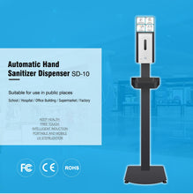 Load image into Gallery viewer, Small Size Touchless Stand Automatic Hand Sanitizer Dispenser with Sensor SD-10