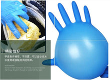 Load image into Gallery viewer, Black Blue Disposable Gloves Latex Dishwashing/Kitchen/Medical /Work/Rubber/Garden Gloves