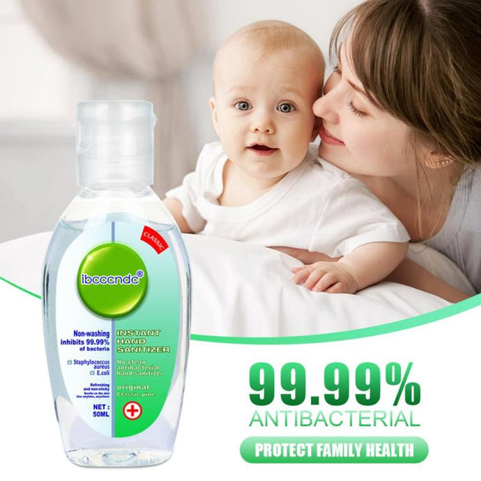 Portable Antibacterial Hand Sanitizer Disposable Disinfectant Gel 75% Bacteriostatic Gel Hand Sanitizer Wipe Out Bacteria 50ml
