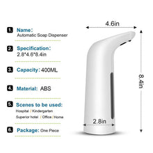 Load image into Gallery viewer, 400ML Automatic Soap Dispenser Electric Soap Dispenser Bathroom Dispenser Smart Sensor Hand Washer Soap Dispensers For Bathroom