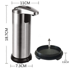 Load image into Gallery viewer, Automatic Soap Dispenser Sensor Automatic Touch-Free Liquid Dispenser ABS Electroplated Sanitize Dispenser for Kitchen Bathroom