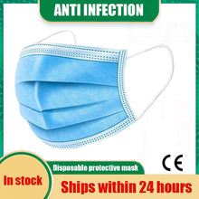 Load image into Gallery viewer, Fast Delivery Disposable Protective Mask 10/300pcs KN95 Mask 3 Layers Anti Bacterial Facial Cover FFP2 FFP3 Anti Dust Mask