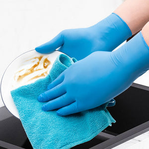 100PCS 3 Color Disposable Gloves Latex Dishwashing/Kitchen/Medical /Work/Rubber/Garden Gloves Universal For Left and Right Hand