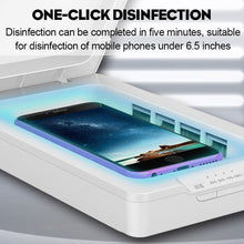 Load image into Gallery viewer, UV Phone Sterilizer Box Charge Stand Jewelry Phone Cleaner Personal Sanitizer Disinfection Cabinet Aromatherapy Esterilizador