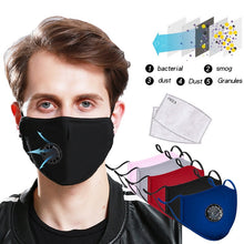 Load image into Gallery viewer, PM2.5 Anti-Dust Anti-fog Mask Anti Haze Mask With Filter Pad Activated Carbon Filter Respirator Mouth-muffle