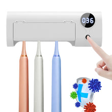 Load image into Gallery viewer, 1 Set UV Ultraviolet Toothbrush Automatic Toothpaste Dispenser Sterilizer Toothbrush Holder Sanitizer Sterilizer Cleaner