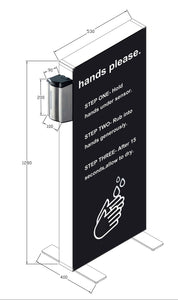 Contact-free Hand Sanitiser Station Advertising Stand