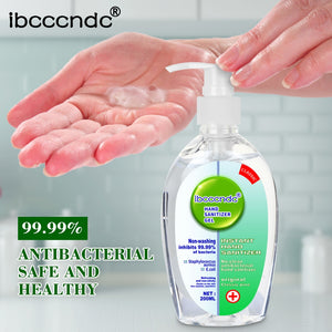 200ml Anti Bacterial Disposable Hand Sanitizer Hand Disinfection Gel Quick-Dry Handgel 75% Ethanol for Kids Adults Home Bathroom