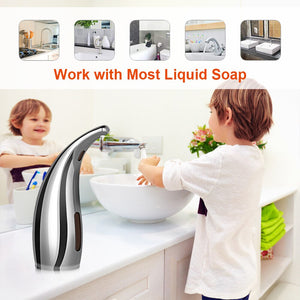 300ML Automatic Liquid Soap Dispenser Smart Sensor Touchless Electroplated Sanitizer Dispensador for Kitchen Bathroom Dropship
