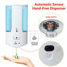 Load image into Gallery viewer, 400ML Wall Mounted Soap Dispenser Liquid Automatic Hand Wash Home Toilet Loo Bathroom Shower Gel Pump Soap dispenser