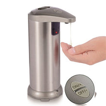 Load image into Gallery viewer, Intelligent Liquid Stainless Steel Soap Dispenser Silver Automatic Induction Foam Washing Hand Machine Kitchen Bathroom Tools