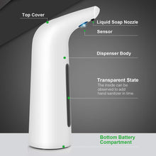 Load image into Gallery viewer, Soap Dispenser Automatic 400ML Electric Soap Dispenser Sensor Infrared Foaming Hand Washer Soap Dispensers For Bathroom Kitchen