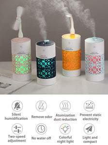 250 ML Colour Cup Humidifier Mini Car Humidifier USB Air Fresheners with Night Light Function for Bedroom Home Office Car 2019