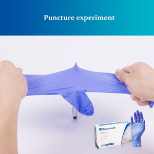 100 Pieces Examination Disposable Nitrile Gloves Medical Grade Colored Powder Free With Finger Textured