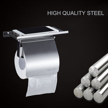 Load image into Gallery viewer, Stainless Steel Anti-rust Tissue Holder Wall Mounted Hanging Rack Roll Paper Towel Holder Bathroom Toilet Home Supplies